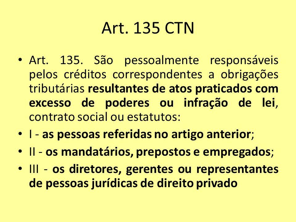 Art. 135 CTN