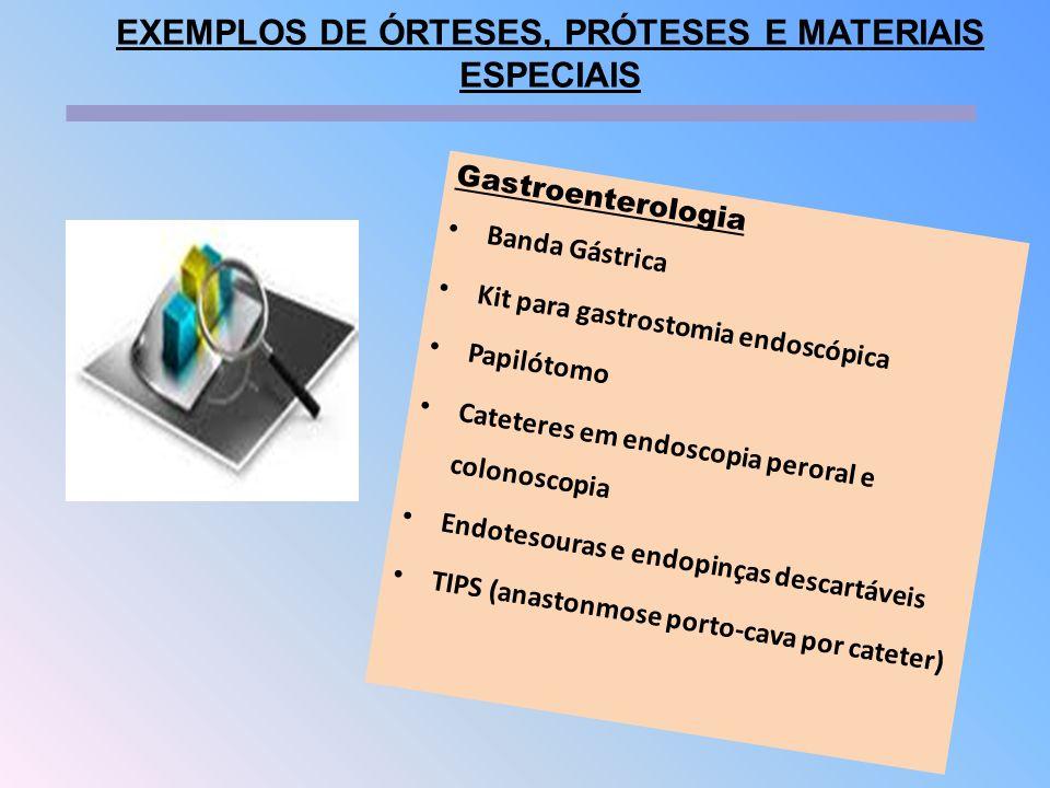 EXEMPLOS DE ÓRTESES, PRÓTESES E MATERIAIS ESPECIAIS