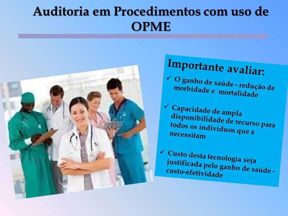 Auditoria em Procedimentos com uso de OPME
