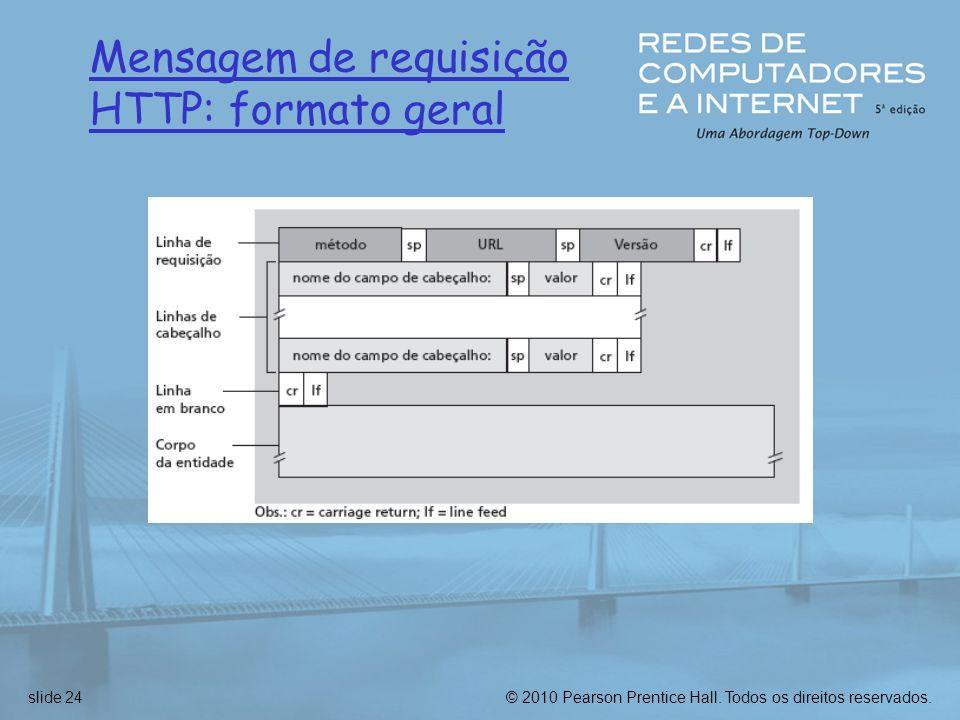 Mensagem de requisição HTTP: formato geral