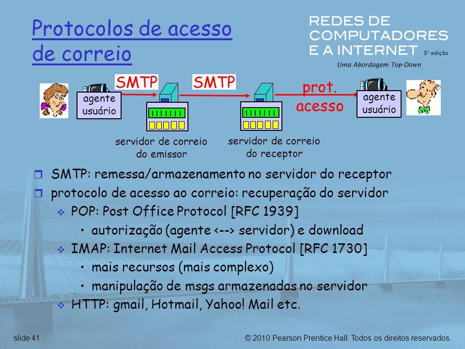 Protocolos de acesso de correio