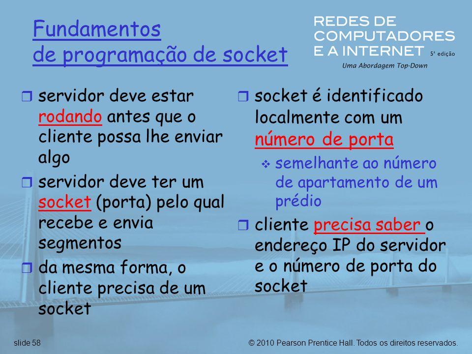 Fundamentos de programação de socket
