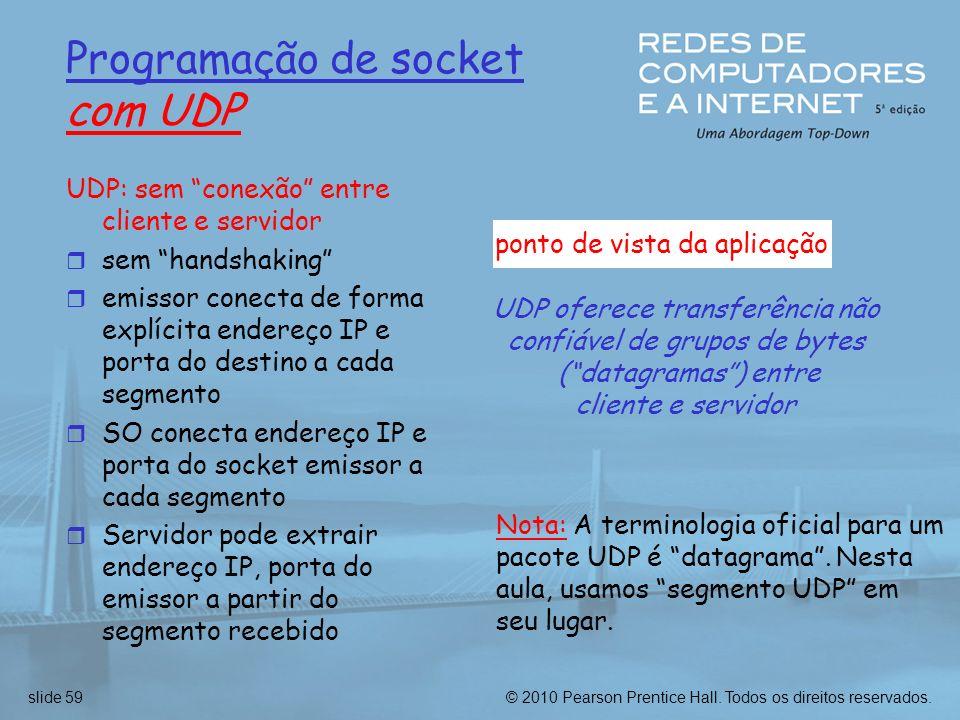 Programação de socket com UDP