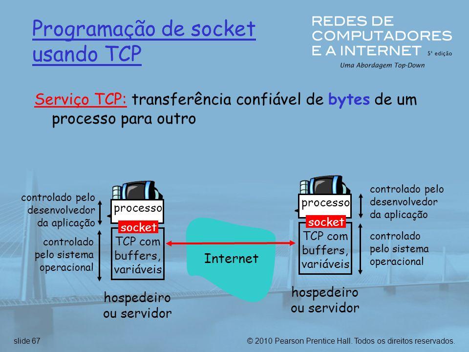 Programação de socket usando TCP