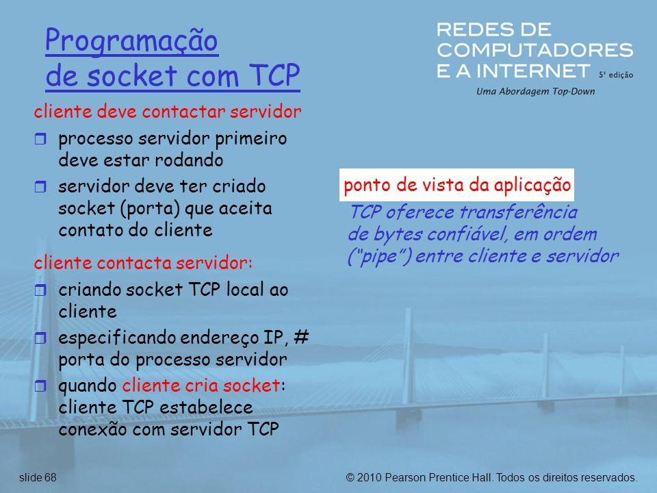 Programação de socket com TCP