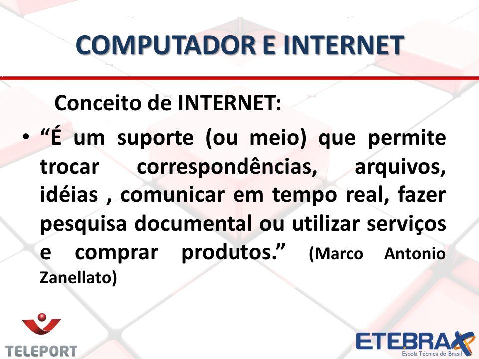 computador e internet Conceito de INTERNET: