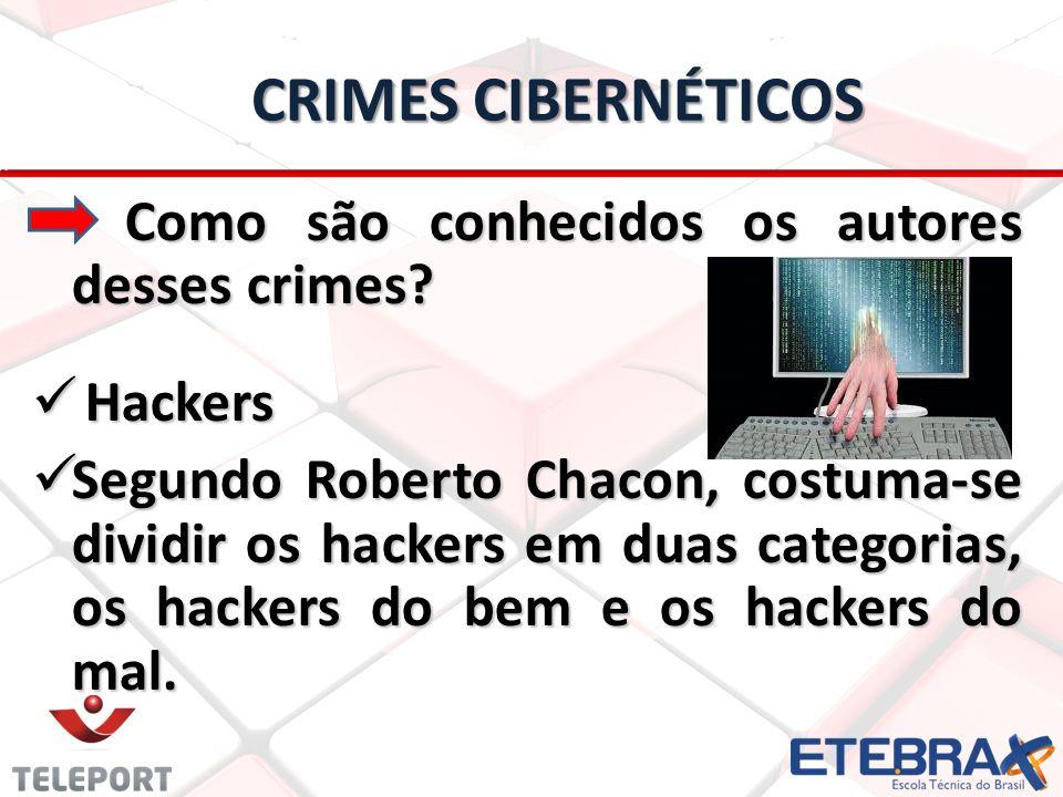 Crimes Cibernéticos Como são conhecidos os autores desses crimes