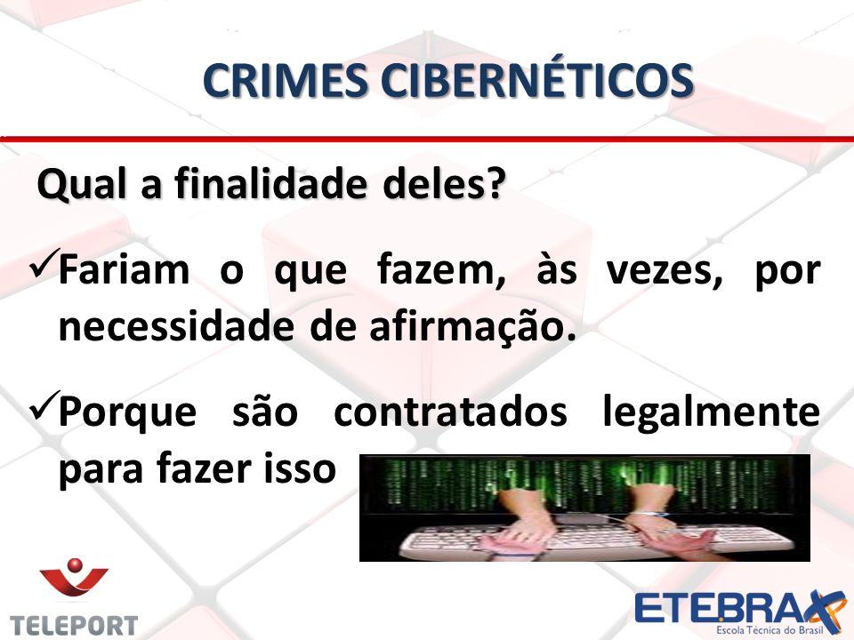 Crimes Cibernéticos Qual a finalidade deles