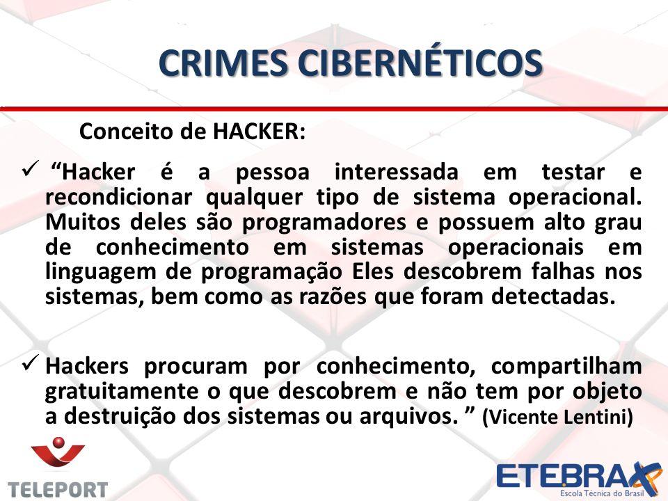 Crimes Cibernéticos Conceito de HACKER:
