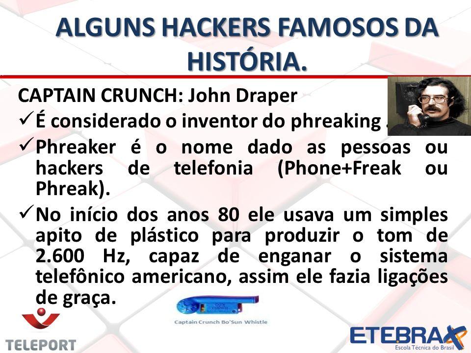 Alguns hackers Famosos da história.