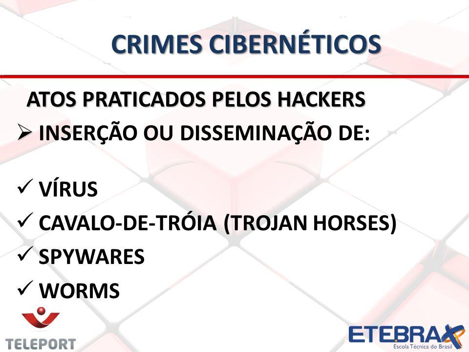 Crimes Cibernéticos ATOS PRATICADOS PELOS HACKERS