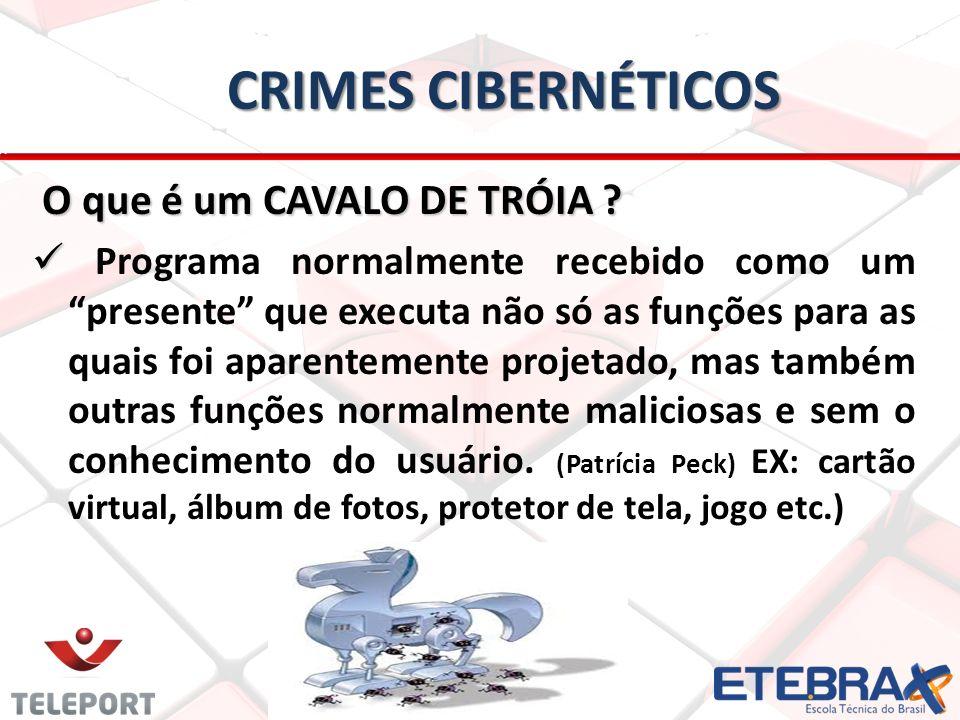 Crimes Cibernéticos O que é um CAVALO DE TRÓIA