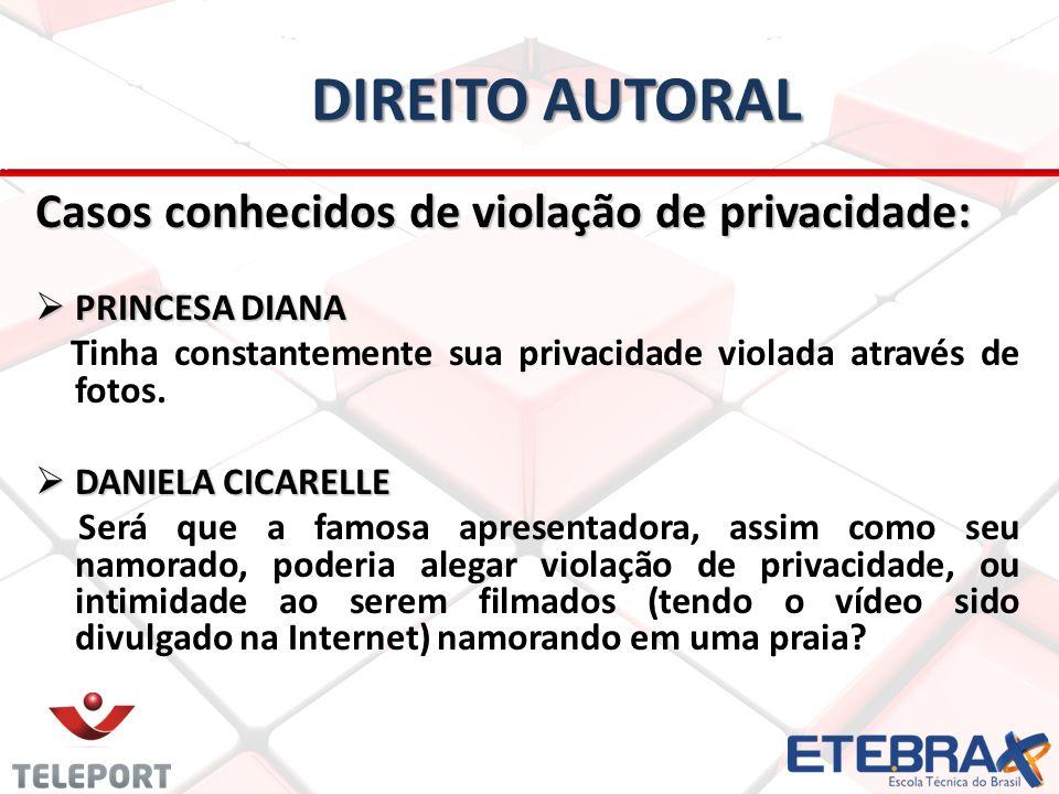 Direito autoral Casos conhecidos de violação de privacidade: