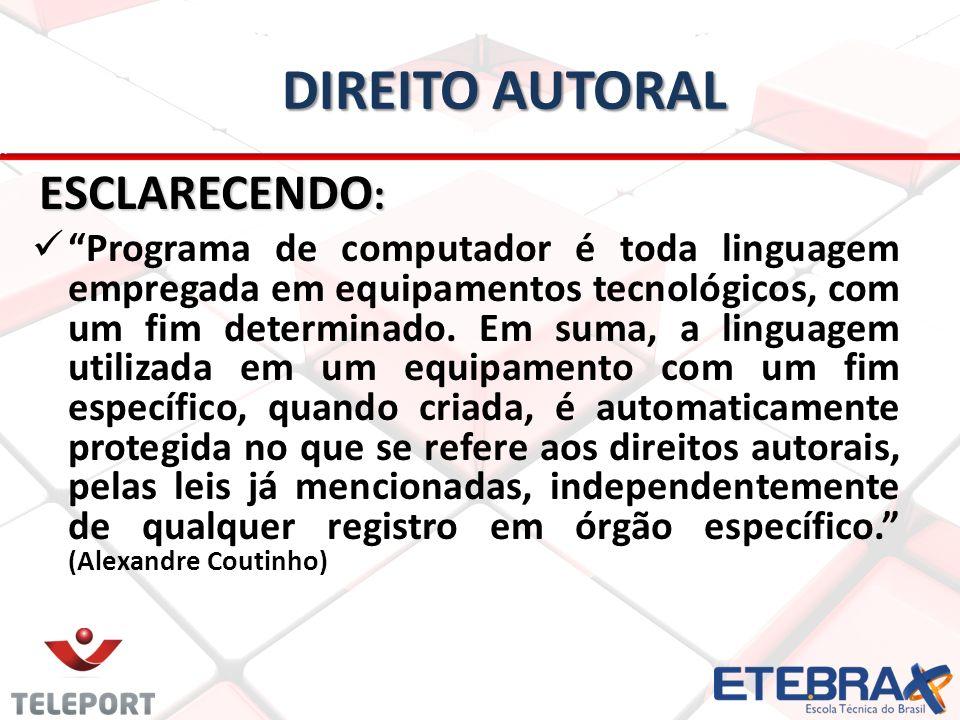Direito autoral ESCLARECENDO: