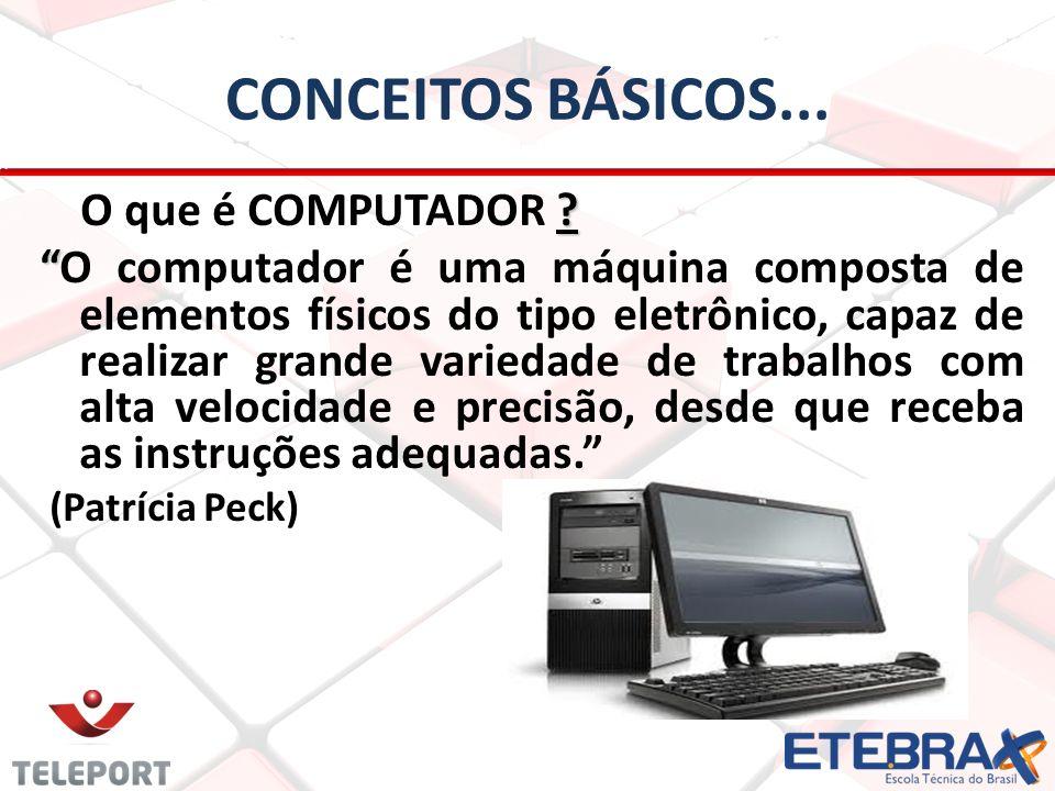 CONCEITOS BÁSICOS... O que é COMPUTADOR
