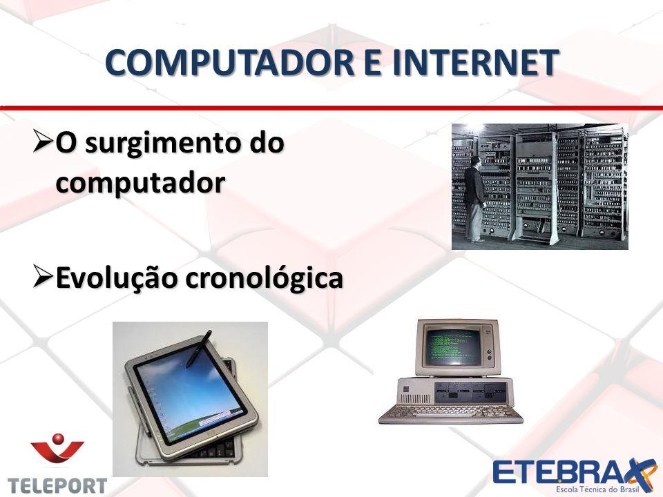 computador e internet O surgimento do computador Evolução cronológica