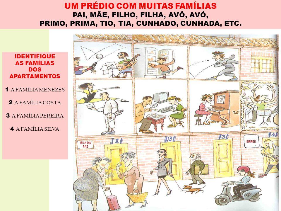 UM PRÉDIO COM MUITAS FAMÍLIAS