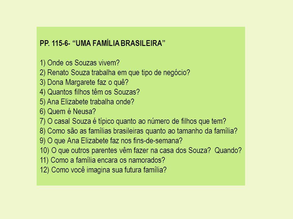 PP. 115-6- UMA FAMÍLIA BRASILEIRA