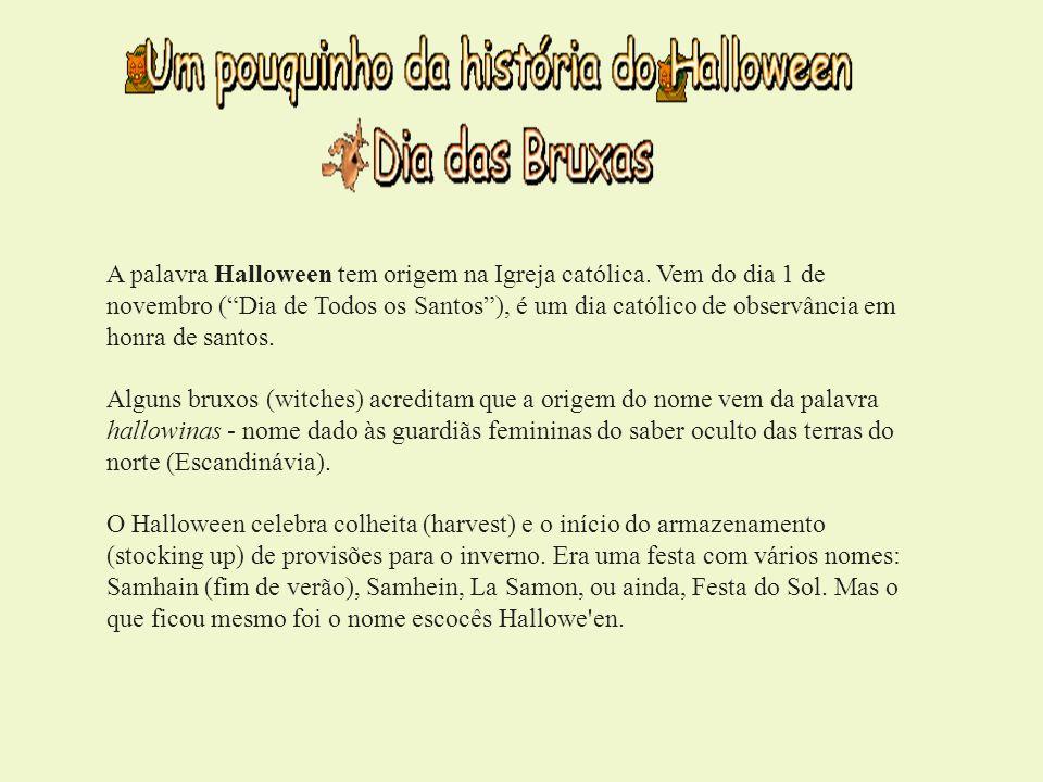 A palavra Halloween tem origem na Igreja católica