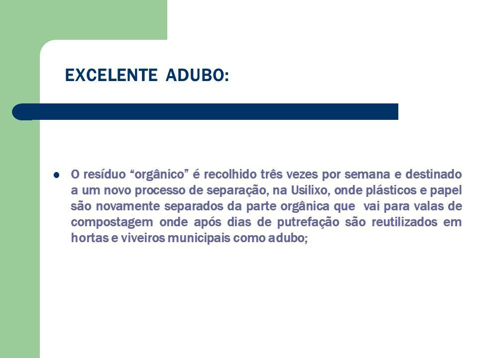 EXCELENTE ADUBO: