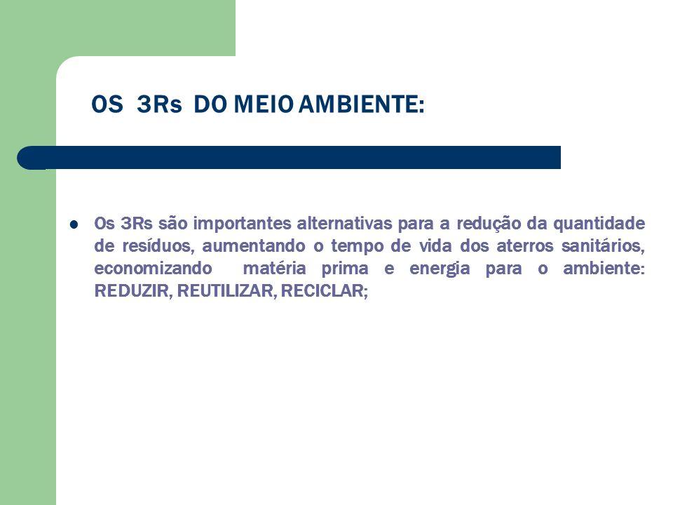 OS 3Rs DO MEIO AMBIENTE: