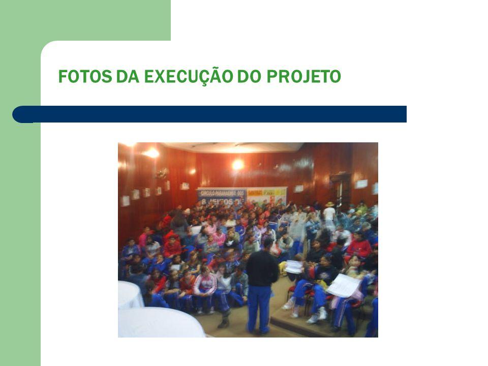 FOTOS DA EXECUÇÃO DO PROJETO