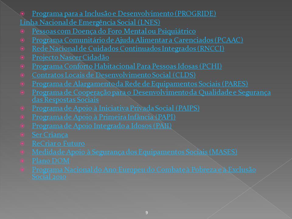 Programa para a Inclusão e Desenvolvimento (PROGRIDE)
