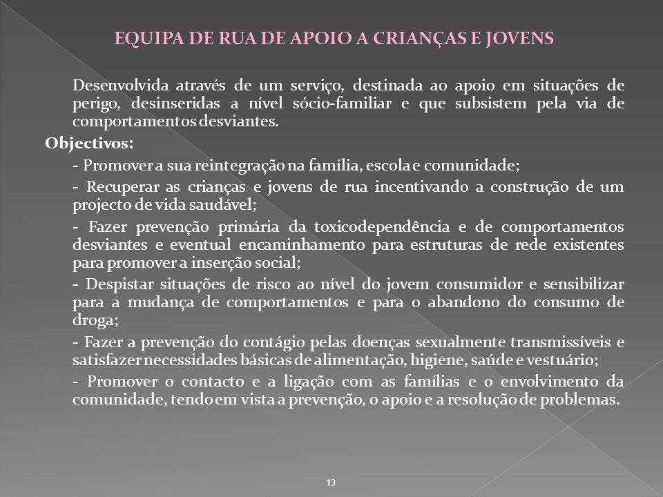 EQUIPA DE RUA DE APOIO A CRIANÇAS E JOVENS