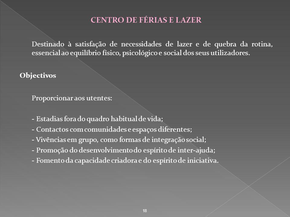 CENTRO DE FÉRIAS E LAZER