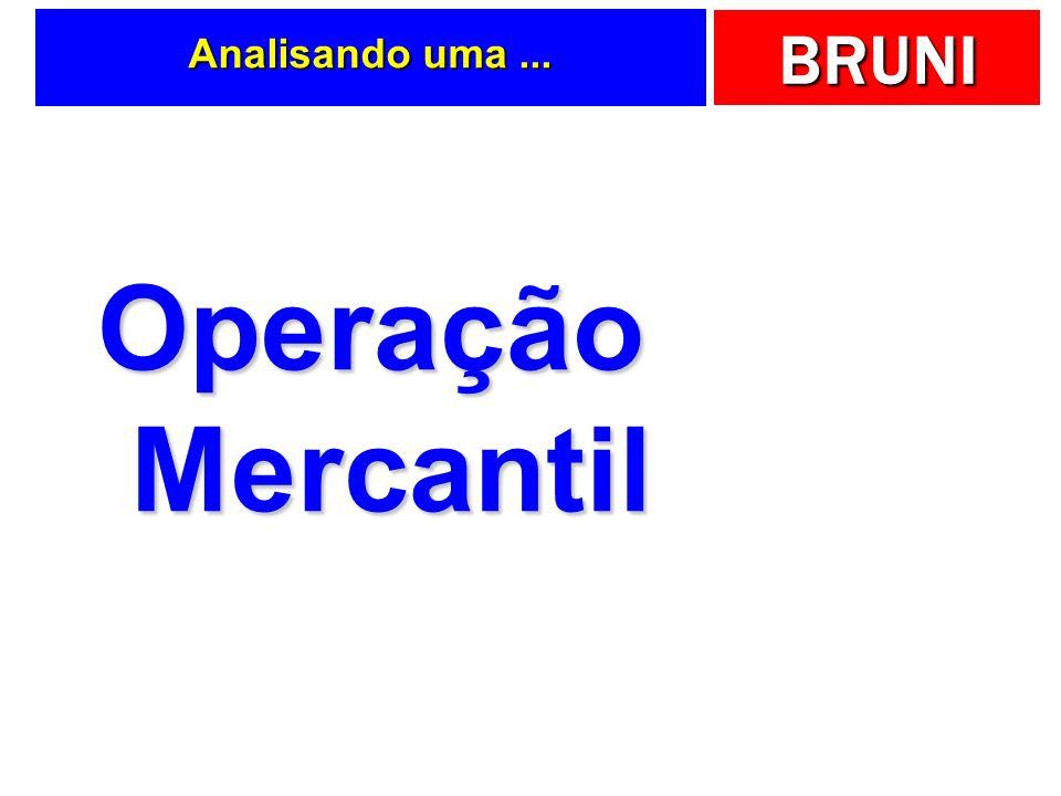 Analisando uma ... Operação Mercantil