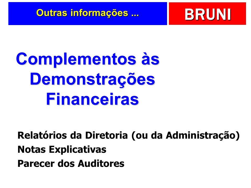 Complementos às Demonstrações Financeiras