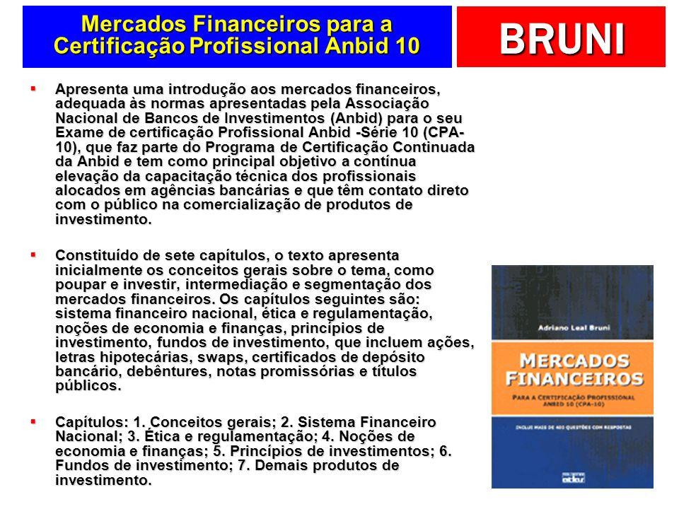 Mercados Financeiros para a Certificação Profissional Anbid 10