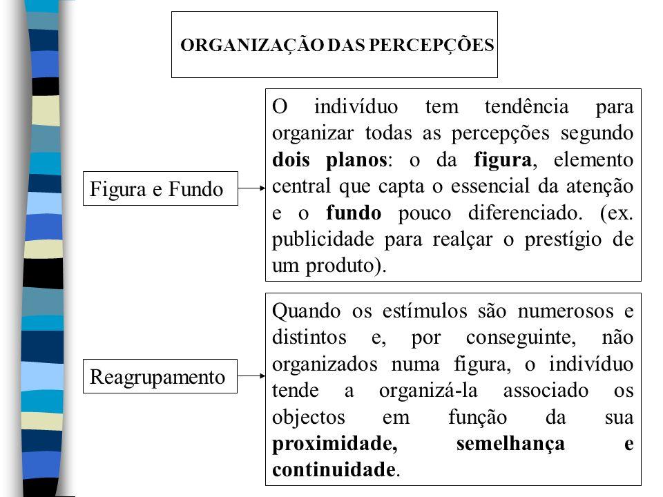 ORGANIZAÇÃO DAS PERCEPÇÕES