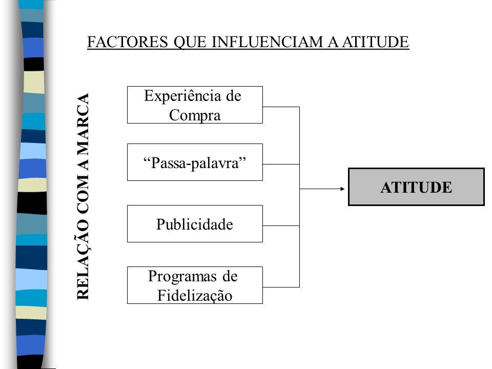 FACTORES QUE INFLUENCIAM A ATITUDE