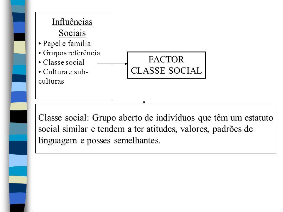 Classe social: Grupo aberto de indivíduos que têm um estatuto