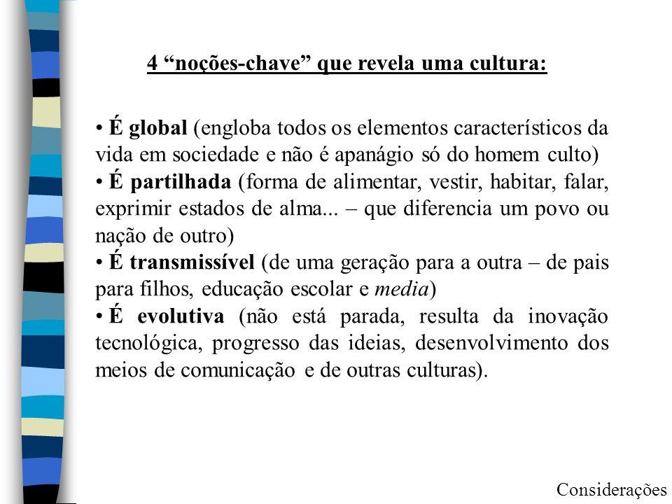 4 noções-chave que revela uma cultura: