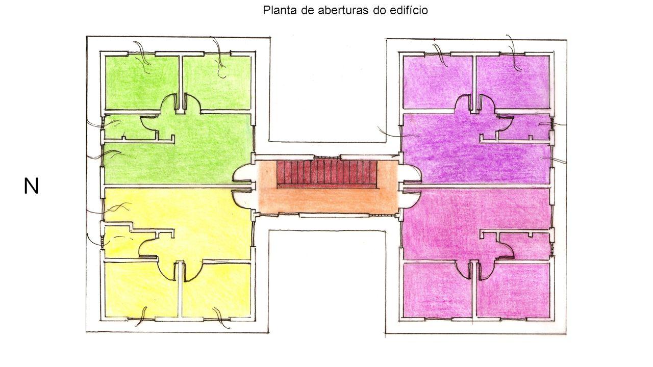 Planta de aberturas do edifício