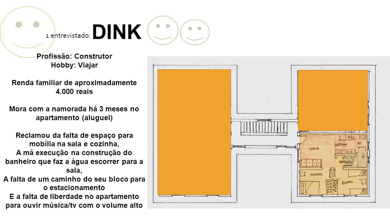 DINK 1 entrevistado: Profissão: Construtor Hobby: Viajar