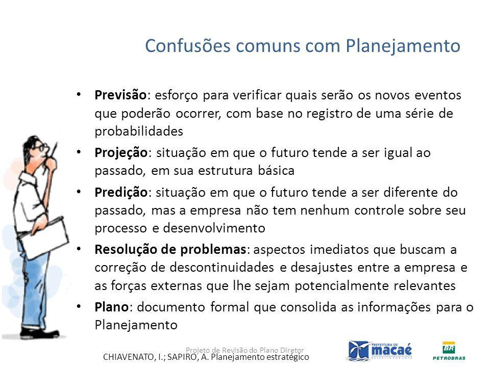 Confusões comuns com Planejamento