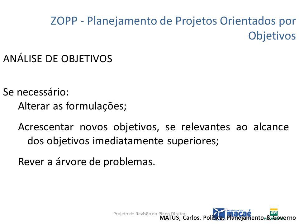 Projeto de Revisão do Plano Diretor