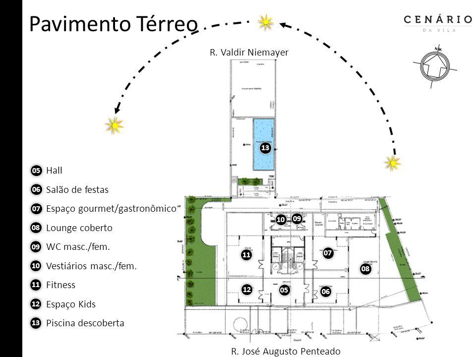 Pavimento Térreo R. Valdir Niemayer Hall Salão de festas