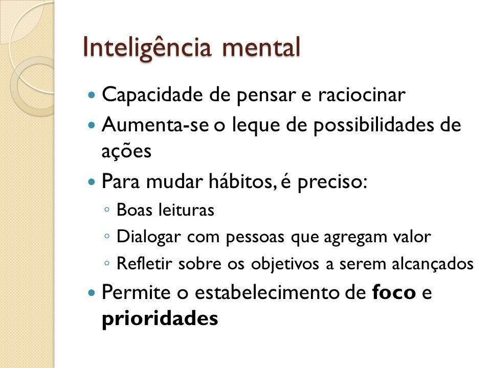 Inteligência mental Capacidade de pensar e raciocinar