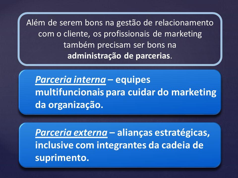 administração de parcerias.