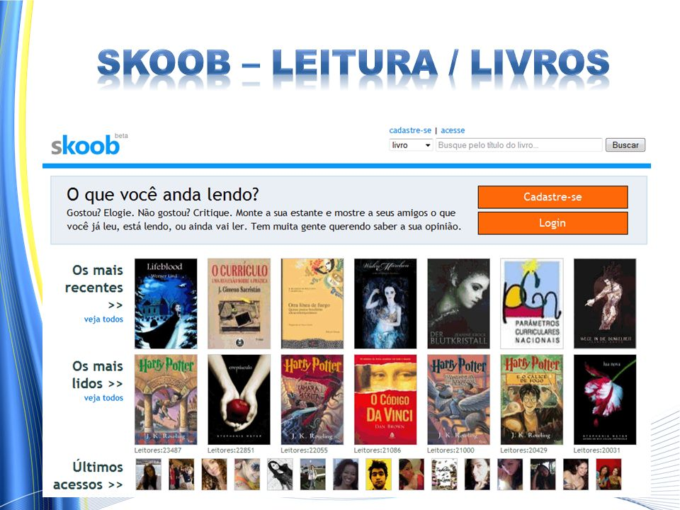 Skoob – leitura / livros