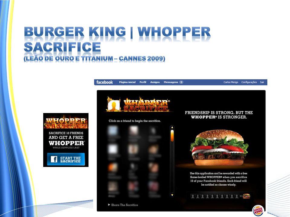 Burger King | Whopper Sacrifice (Leão de Ouro e Titanium – Cannes 2009)