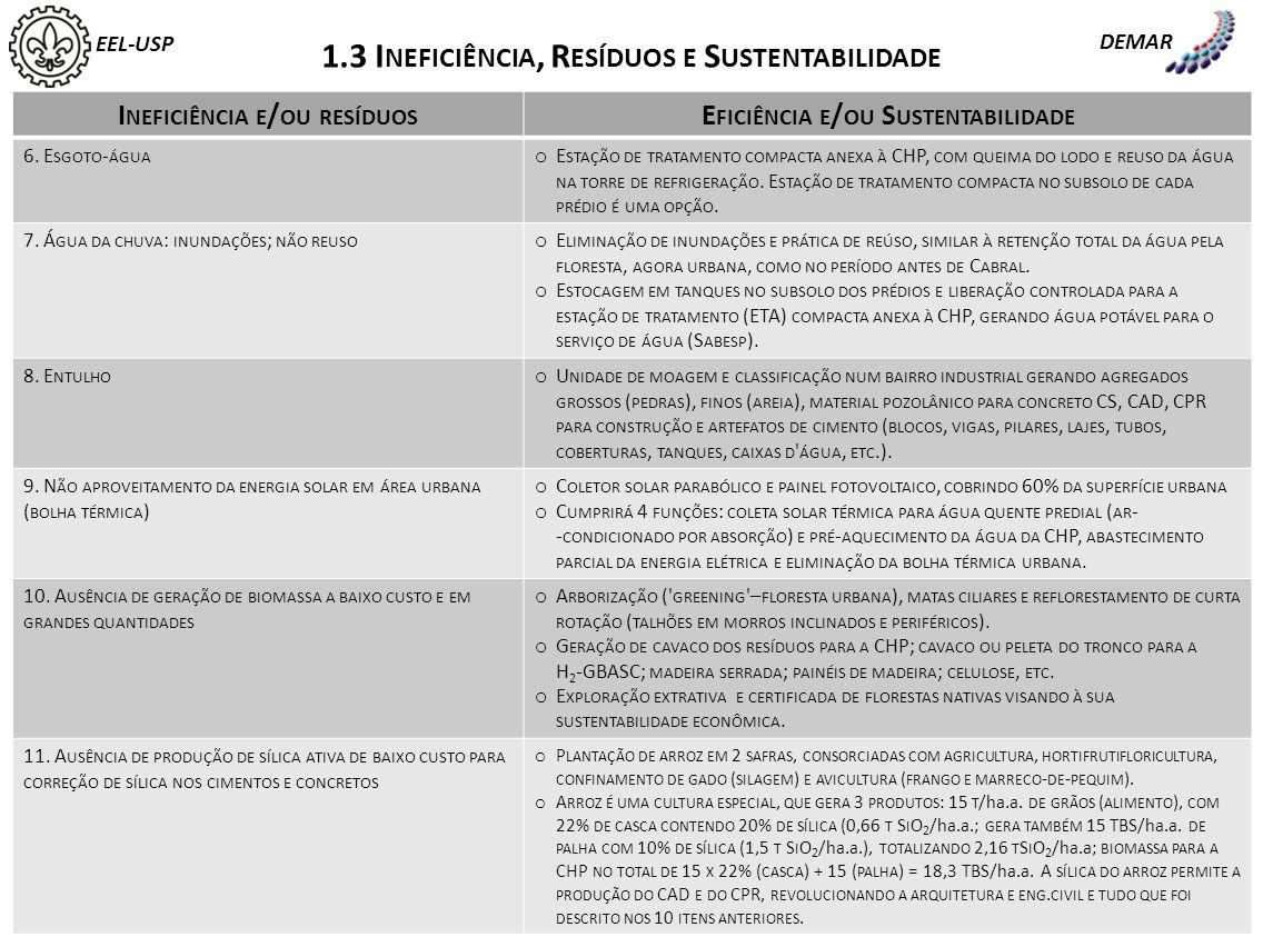 1.3 Ineficiência, Resíduos e Sustentabilidade