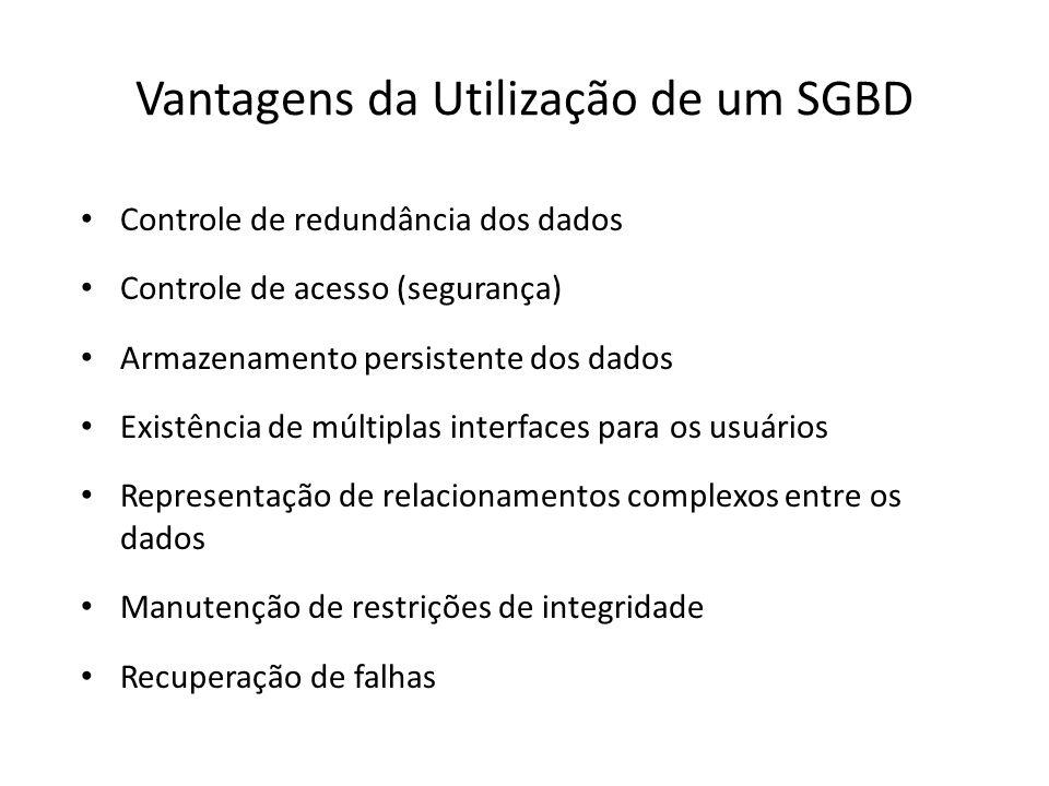 Vantagens da Utilização de um SGBD