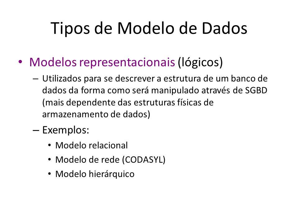 Tipos de Modelo de Dados
