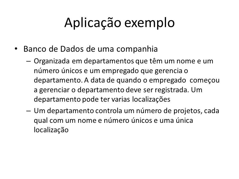 Aplicação exemplo Banco de Dados de uma companhia