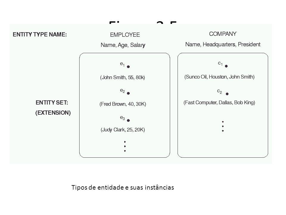 Figura 3.5 Tipos de entidade e suas instâncias